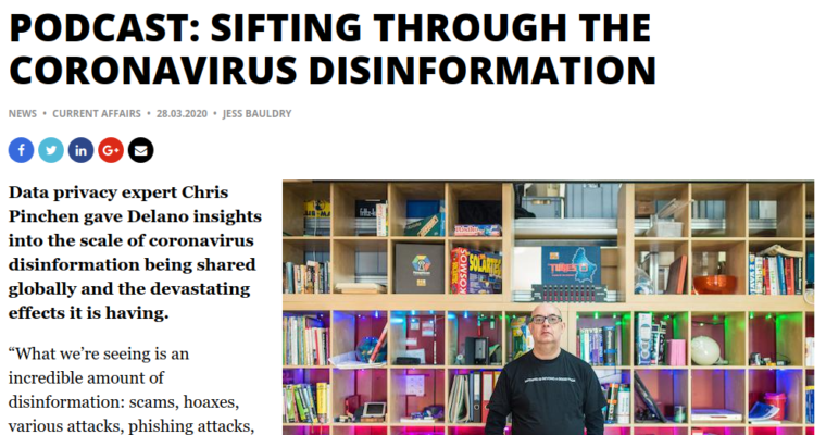 DELANO PODCAST: SIFTING THROUGH THE CORONAVIRUS DISINFORMATION