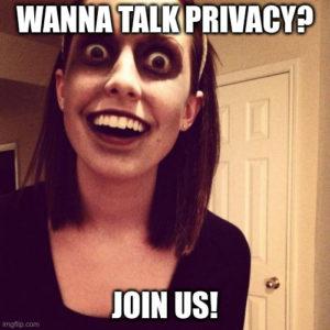 Next ONLINE Digital Privacy Salon 28/05/20: Lockdown Privacy Chat