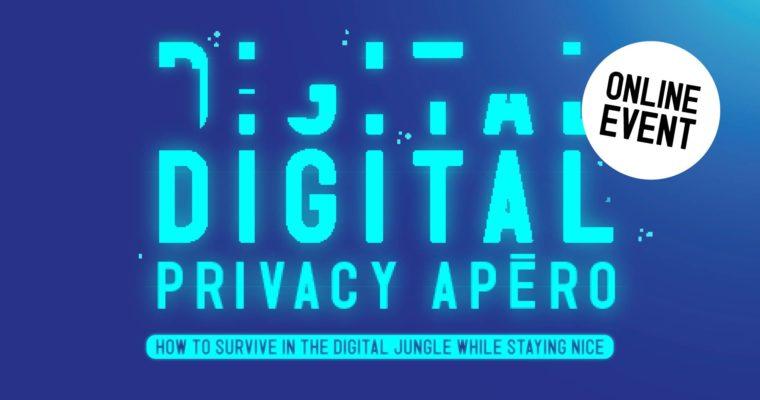 Digital Privacy Apéro − Privacy & the pandemic – Wednesday, November 11, 2020